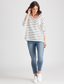 Katies Knit Textured StripeTop