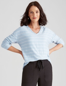 Katies Knit Textured StripeTop