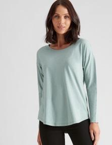 Katies 3/4 Sleeve Cotton Slub Tee