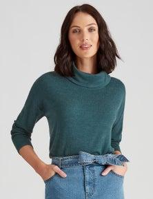Katies Fine Knit Curved Hem Jumper