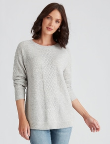 Katies Knit Curved Hem Cable Jumper