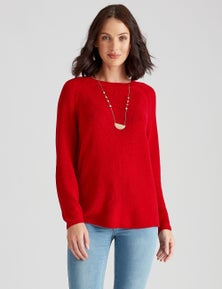 Katies Cotton Blend Fine Knit Raglan Jumper