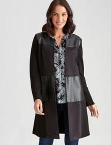 Katies Seamed Suedette Coat