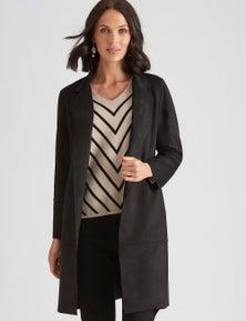 Katies Suedette Longline Coat