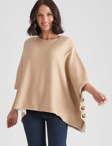 Katies Knit Button Poncho