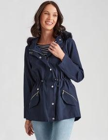 Katies Pocket Detail Hooded Anorak