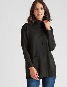 Katies Knit Tunic Pocket Jumper