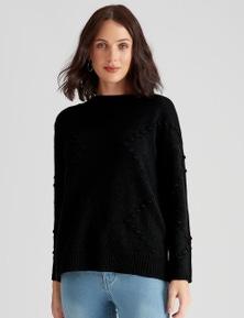 Katies Novelty Knit Texture Jumper