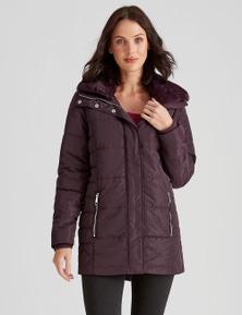 Katies Fur Collar Puffer Jacket
