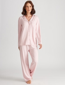 Katies Knit Button Front Brushed PJ Set
