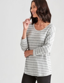 Katies Pretend Knit Stripe Top