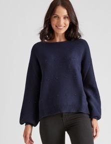 Katies Knit Cotton Textured Jumper