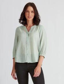 Katies Cotton Blend Textured Shirt