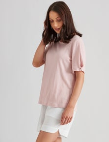 Katies Knit Textured Novelty Sleeve Top
