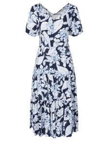 Katies Woven Button Front Tiered Maxi Dress