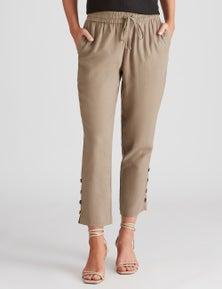 Katies Linen Blend Button Pants