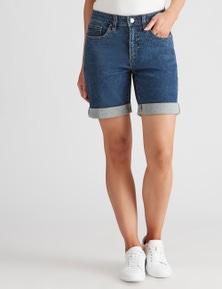 Katies Fly Front Denim Shorts
