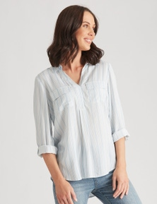 Katies Woven Roll Up Sleeve Shirt
