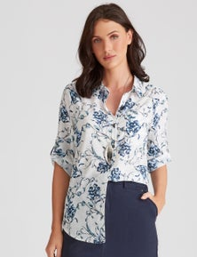 Katies Printed Cotton Shirt