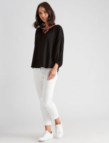 Katies Cotton Sateen Ankle Pant
