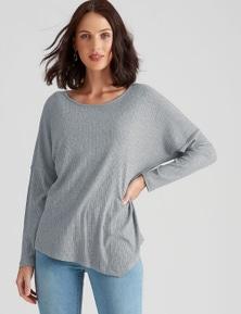 Katies Knit Asymmetric Hem Top