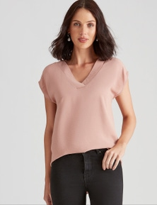 EXT SLV KNIT TOP