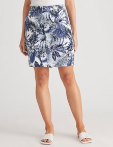 Katies Cotton Blend Casual Skirts