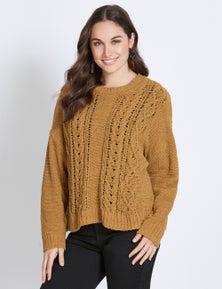 Katies Chenille Crew Knit Jumper