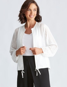 Katies Chiffon Bomber Jacket