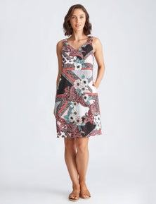 Katies Woven Buckle Strap Shift Dress