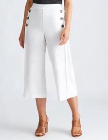 Katies Linen 7/8 Button Pocket Pant