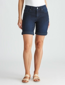 Katies Denim Fly Front Short