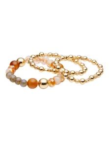 Katies Natrual Stone Beaded Stretch Bracelets