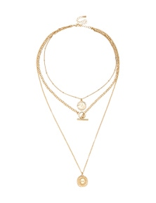 MULTI LAYED CHAIN NECKLACE