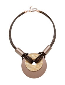 LAYERED DONUT SHORT NECKLACE