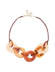 Katies Resin Link Short Necklace
