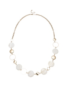 Katies Shell Disc Gold Station Necklace