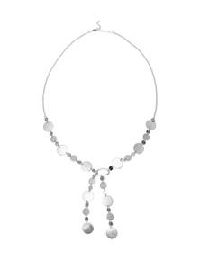 Katies Silver Disc Larriet Necklace
