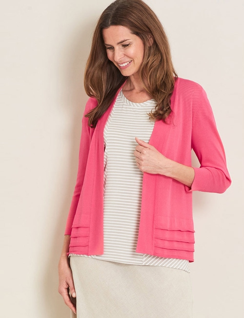 05bf545f33 Maggie T Long Sleeve Layered… Cardigan