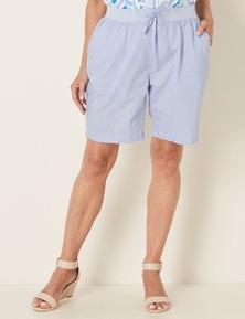 Millers Cotton Poplin Rib Waist Short