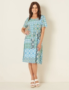 Millers Short Sleeve Tie Front Midi Dress