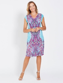 Millers Chiffon Flare Sleeve Midi Dress