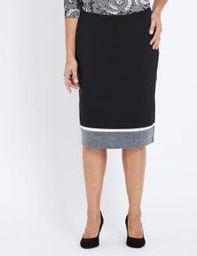 Millers Pull On Midi Colour Block Pencil Skirt