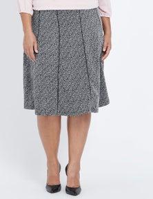 Millers Pull On Panelled Textured Aline Midi Skirt