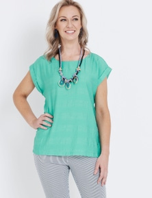 Millers Cap Sleeve Textured Shell Top