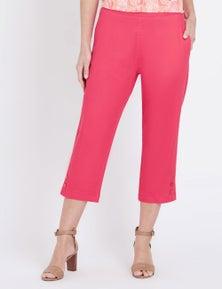 Millers Crop Button Hem Classic Denim Jeans