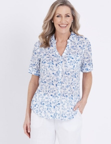 Millers Short Sleeve Button Through Voile Shirt