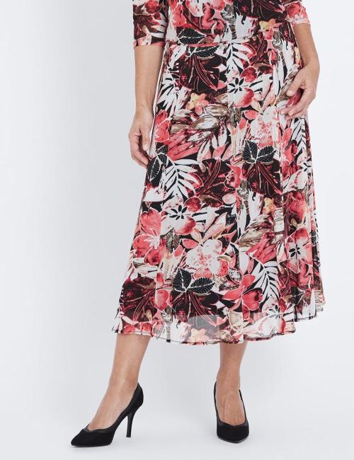 Millers Print Midi Skirt