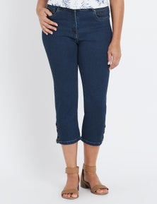 Millers 5 Pocket Crop Lace Up Hem Denim Jeans