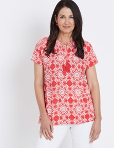 Millers Short Sleeve Gathered Blouse